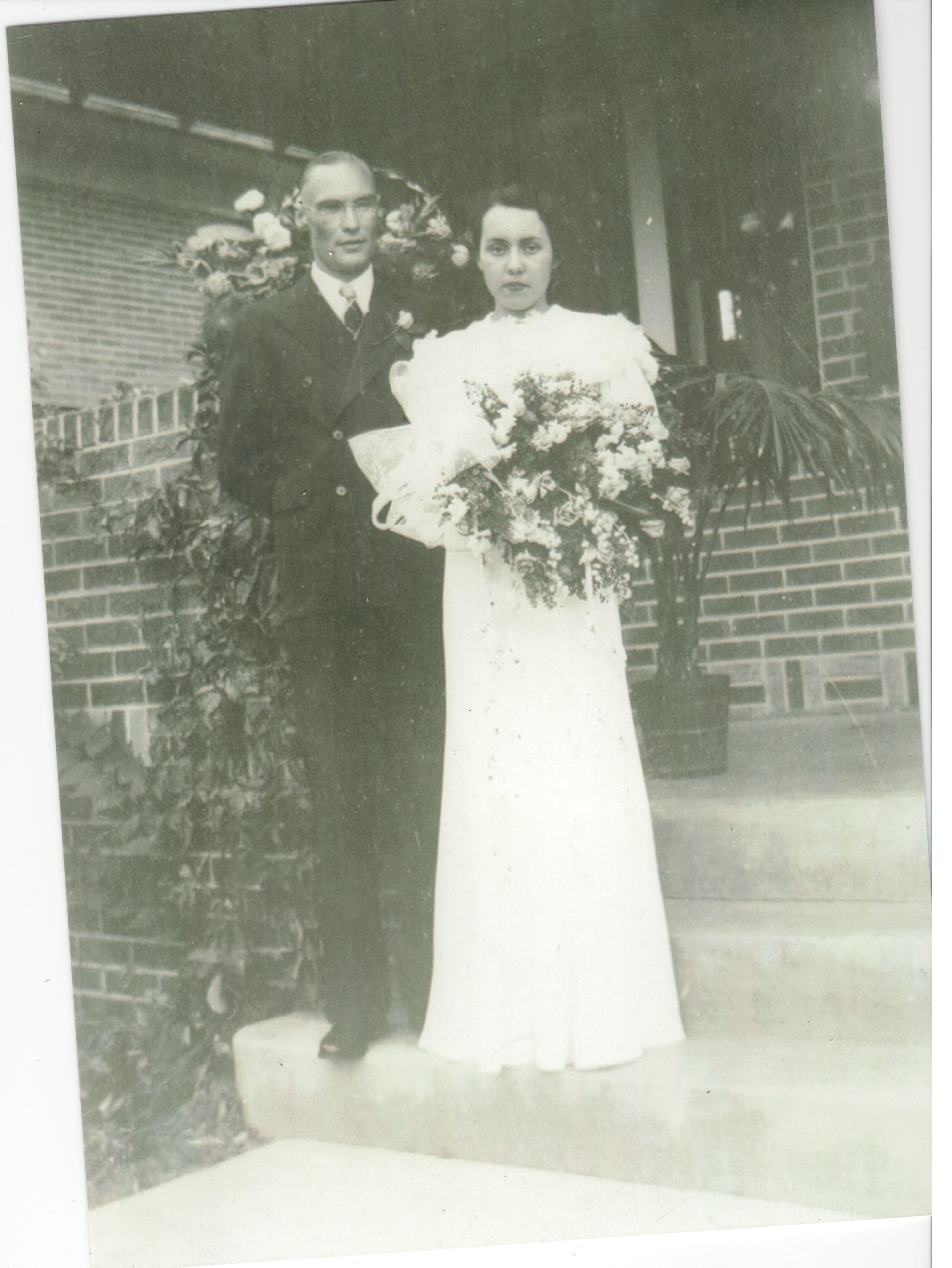 Mildred France and Lawrence Schuerman wedding
